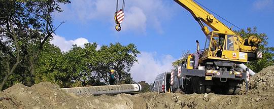 Odběr vzorku potrubí DN 500